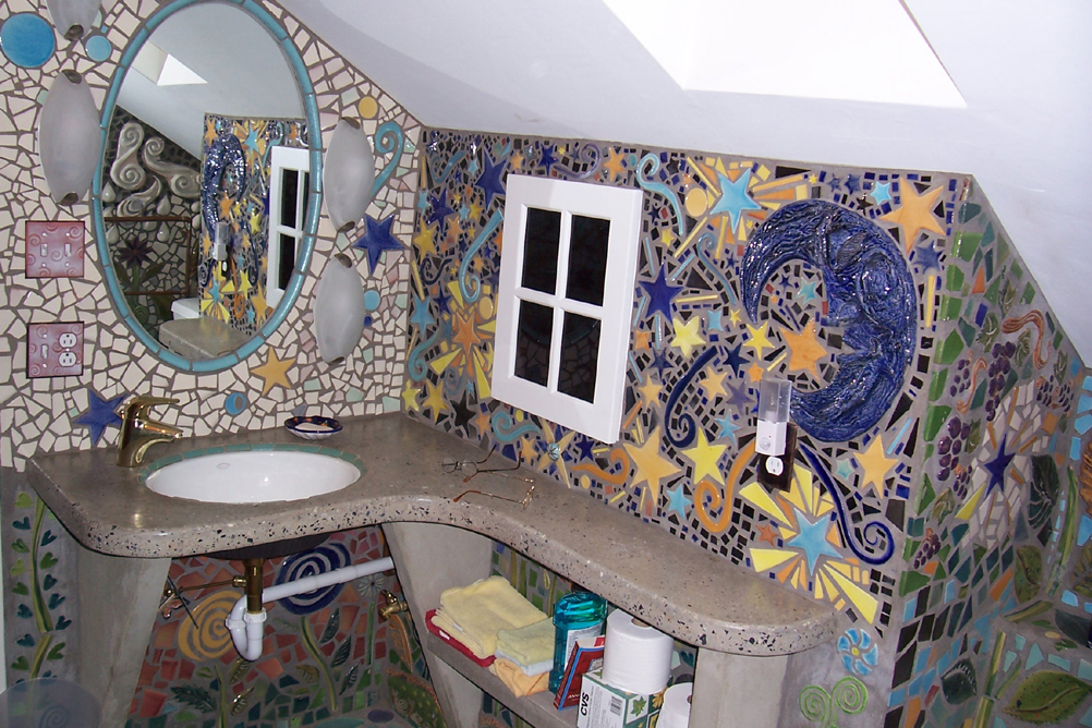 Mosaic designs on pinterest 16 pins for Mosaic bathroom set